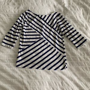 *3/$10* Gymboree White & Blue Striped Blouse